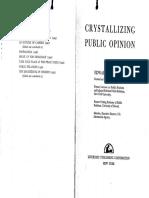 Crystallizing Public Opinion Edward Bernays