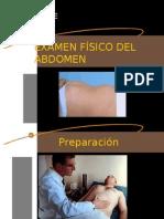 EXAMEN FÍSICO DEL ABDOMEN
