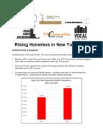 Rising Homeless in New York State 2016