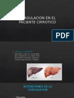 Alteraciones de la Coagulacion en paciente  Cirrotico