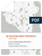 Regulating Short Term Rentals Policy Brief
