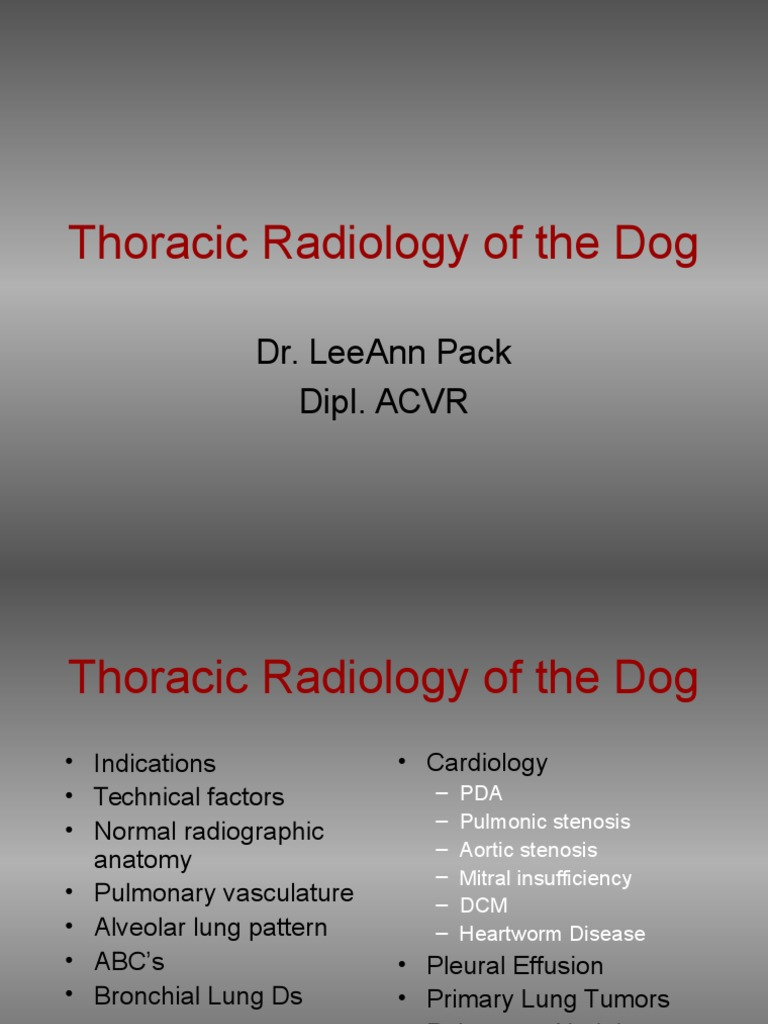 Docfoc.com-Thoracic Radiology of the Dog | Heart Valve | Lung