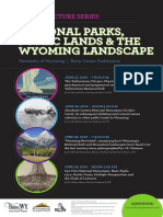 National Parks, Public Lands and the Wyoming Landscape Public Lecture Series Poster