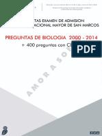 Preguntas Biologia Examen de Admision 2000-2014