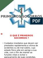 SLIDE PRIMEIROS SOCORROS