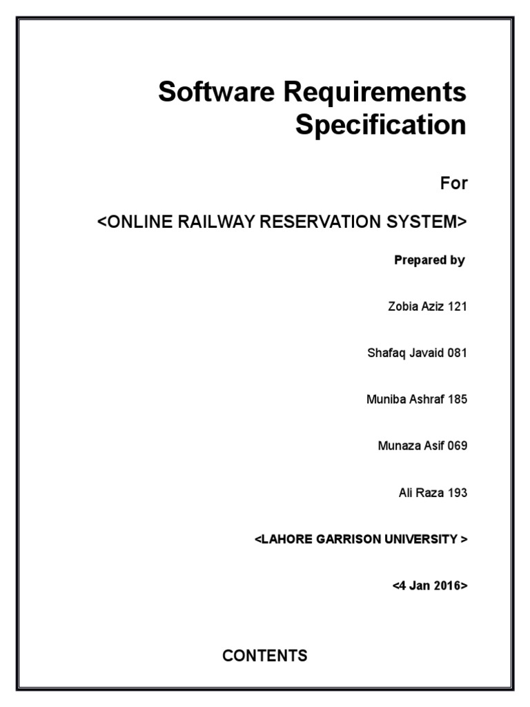 Online railway reservation system technology world wide web ccuart Choice Image