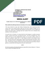 Jones Family Statement - 06-01-16