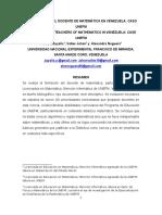 La Formacion Del Docente de Matematica en Venezuela
