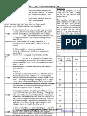 photo relating to Printable Enneagram Test referred to as Enneagram Simple Examine Behavioural Sciences Psychology