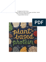 Nutrition Education Plant Based Protein