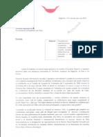 Carta de ARIKI Y RINKO a Presidenta Bachelet