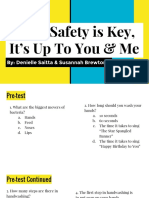 Food Safety is Key, It's Up to You & Me
