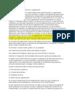 Diferencia Entre Administración y Organización
