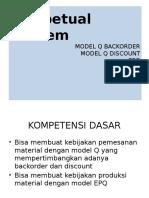 Independent Demand Model Q. Model permintaan Q.