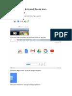 Actividad 9 Google Docs