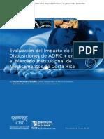 Evaluación del impacto de las disposiciones ADPIC+ en el mercado institucional de medicamentos de Costa Rica
