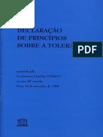 Declaração de Princípios Sobre a Tolerância - Unesco