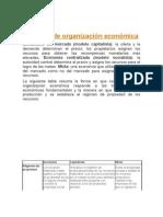 Modelos de organización económica