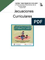 Adecuacion Curricular 2015-2016