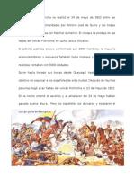 La Batalla de Pichincha Se Realizó El 24 de Mayo de 1822 Entre Las Fuerzas Patriotas Comandadas Por Antonio José de Sucre y Las Tropas Realistas Encabezadas Por Melchor Aymerich