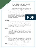 Entrevista Al Ejecutivo de Ventas de La Revista Publima