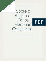 Sobre o Autismo - Carlos Henrique Gonçalves -