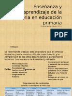Enseñanza y Aprendizaje de La Historia en Educación