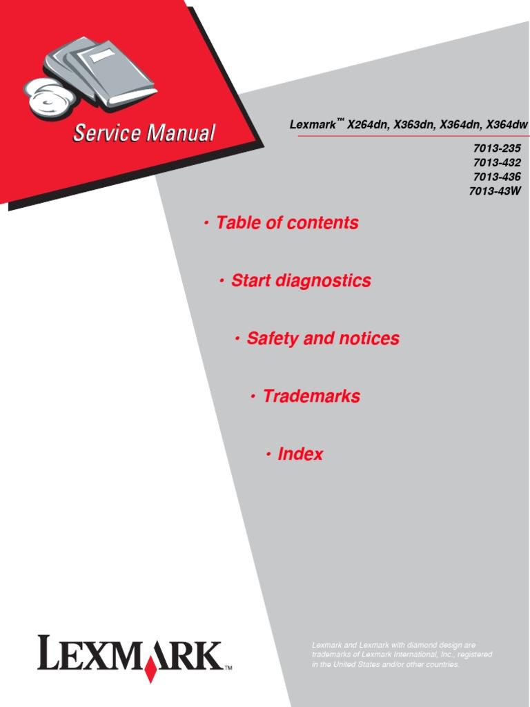 lexmark t62x service manual