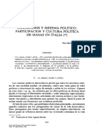Ciudadanos y Sistema Político. Participación y Cultura Política de Masas en Italia (Giacomo Sani)