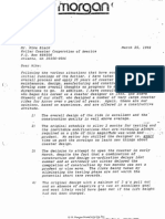 Memo describing rushed construction process for the Rattler rollercoaster at Fiesta Texas