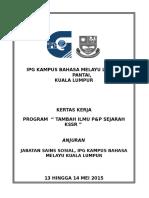 Kertas Kerja Program Tambah Ilmu P&P Sejarah KSSR