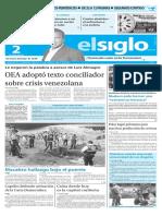 Edicion Impresa El Siglo 02-06-2016