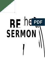 Be the Sermon