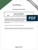 econs marking scheme paper