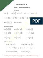class XII Assignment - Inverse Trigonometry