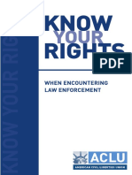 your rights when encountering law enforcement