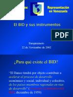 El BID y Sus Instrumentos