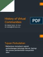 History of Virtual Communities-Natalia