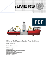 Effect of the Moonpool on the Total Resistance of a Drillship