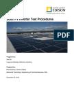 Solar Pv Inverter Test Procedures