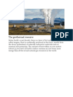 The Geothermal Resource
