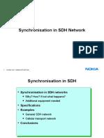 Synchronization in SDH network