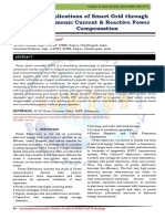 Applications of Smart Grid through Harmonic Current & Reactive Power Compensation