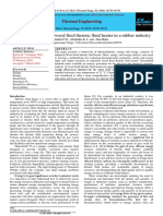 Exergetic analysis of a wood fired thermic fluid heater in a rubber industry