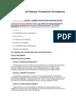 Ley N_28411-Ley General Del Sistema Nacional de Presupuesto