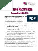 dbb Hessen Nachrichten 06/2016