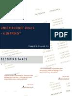 DPNC Budget 2014 15 Highlights