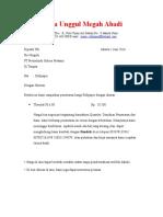 Surat Penawaran Rollpaper PT Pretzelindo Sukses Pratama