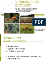 Lecture 1Ecology