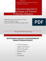 System Dynamics Approach to Teaching Supply and Demand